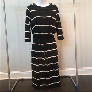 Reborn J Striped Dress With Pockets- S